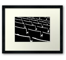 Please sit Framed Print