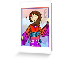 Girl of Cranes Greeting Card