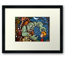 He Sure is an Ugly One Framed Print