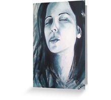 Self Portrait - acrylic # 3 Greeting Card