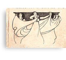 ladies art noveau Canvas Print