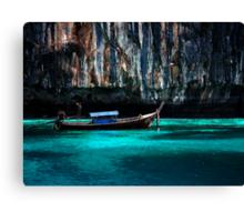 Longboat off Phi Phi Island Canvas Print