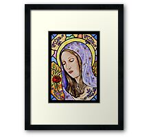Holy Mother Stained Glass Framed Print