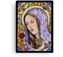 Holy Mother Stained Glass Canvas Print