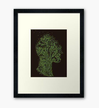 Think Green Profile Framed Print