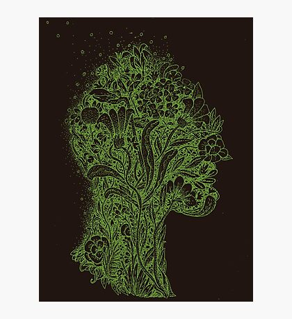 Think Green Profile Photographic Print