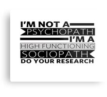 Do your research Metal Print