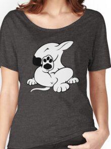 English Bull Terrier Kicking Back  Women's Relaxed Fit T-Shirt