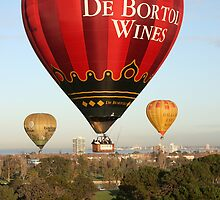 Balloons over Albert Park Lake by robertb