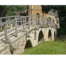 Bridge at Medbourne Leicestershire uk Photographic Print