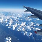 West Coast of South Island, New Zealand from airplane window by flash62au