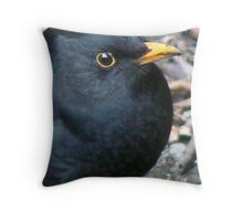 A Blackbird Throw Pillow