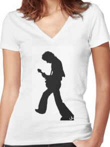 Brian May Women's Fitted V-Neck T-Shirt