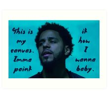 J Cole - This is my canvas Art Print