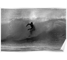Surfer, Praa Sands, South Cornwall UK Poster