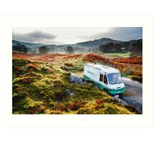 Library Van in the Lake District Art Print