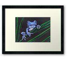 Water Buffalo (blue) Framed Print