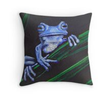 Water Buffalo (blue) Throw Pillow