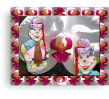 Jester Buttons Toddler 72 cm height Canvas Print