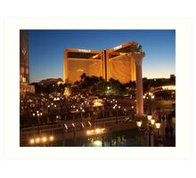 The Mirage in Vegas by Night Art Print