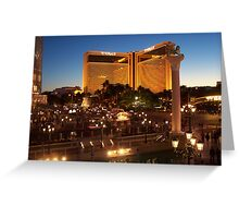 The Mirage in Vegas by Night Greeting Card