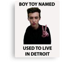 troye used to live in detroit Canvas Print