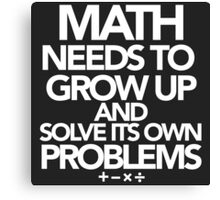 Math Problems Canvas Print