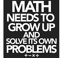 Math Problems Photographic Print