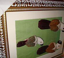 Frame on original birds by emylionne