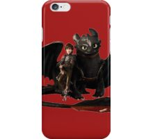 toothless with hiccup iPhone Case/Skin