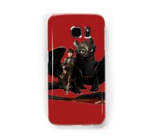 toothless with hiccup Samsung Galaxy Case/Skin