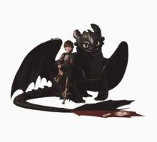 toothless with hiccup One Piece - Short Sleeve
