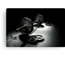 Olympic Weight Training Canvas Print