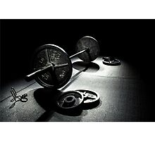 Olympic Weight Training Photographic Print