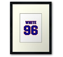 National football player Alberto White jersey 96 Framed Print