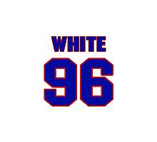 National football player Alberto White jersey 96 Photographic Print