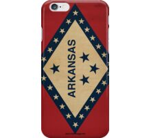 Arkansas State Flag VINTAGE iPhone Case/Skin