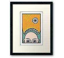 Fish Head Framed Print