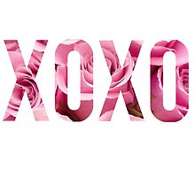 Pink Rose Floral XOXO Design by hellosailortees
