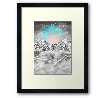 Put Your Thoughts To Sleep (Peaceful Moon / Wolf Spirit) Framed Print