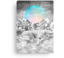Put Your Thoughts To Sleep (Peaceful Moon / Wolf Spirit) Metal Print