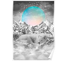 Put Your Thoughts To Sleep (Peaceful Moon / Wolf Spirit) Poster