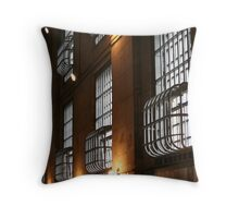 Alcatraz Cell Block Throw Pillow