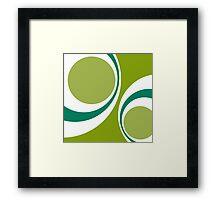 green retro Framed Print