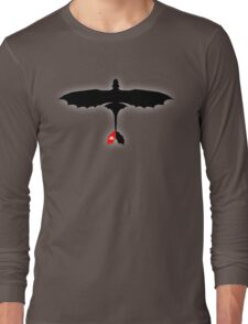 How to Train Your Dragon - Night Fury - Toothless Silhouette Long Sleeve T-Shirt