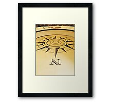 Which Way is North Framed Print