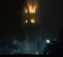 Smoking Clock Tower, Spokane WA by va103