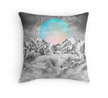 Put Your Thoughts To Sleep (Peaceful Moon / Wolf Spirit) Throw Pillow