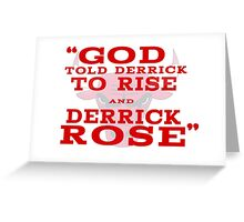 Derrick Rose Chicago Bulls NBA Greeting Card