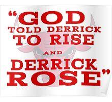 Derrick Rose Chicago Bulls NBA Poster